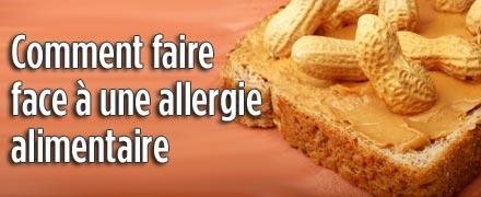 Comment faire face � une allergie alimentaire