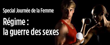 R�gime : la guerre des sexes