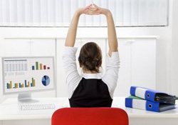 Ma sance stretching au bureau pour viter le mal de dos