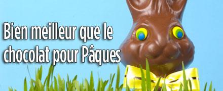 Bien meilleur que le chocolat pour Pâques !