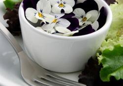 Mangez des fleurs au restaurant
