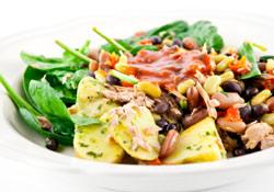 Recette : salade minceur aux 3 féculents