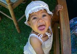 sourire, bébé, sourires, photo