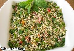 salade compos�e, taboul� libanais